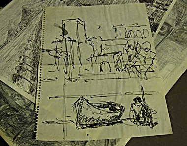 a quick sketch done on a beach in Morocco, 1982
